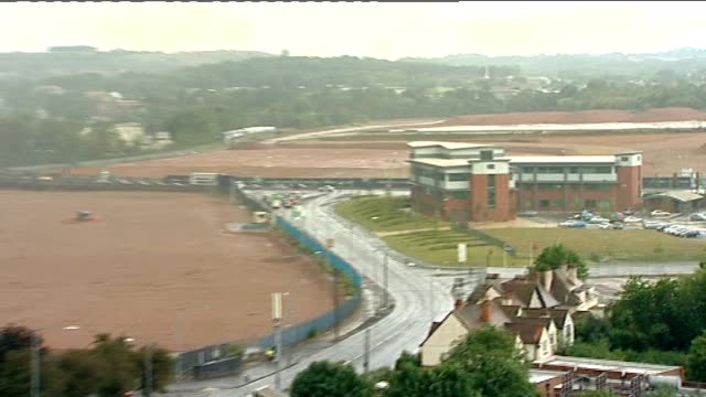 ext cleared site where mg rover longbridge plant once stood - longbridge stock videos & royalty-free footage