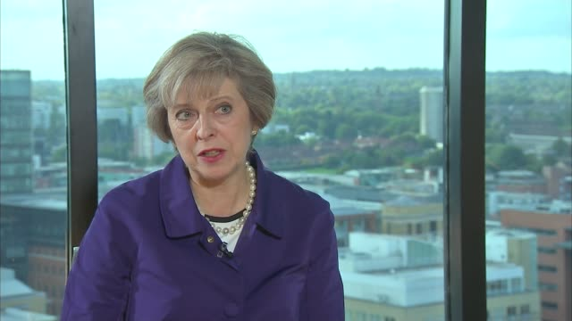 Birmingham INT Theresa May MP interview SOT The scenes that we are seeing from Aleppo are absolutely heartbreaking and the levels of violence that...