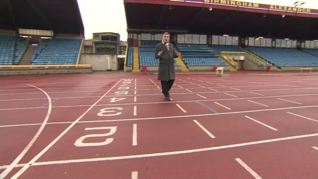 Birmingham named as host city of the 2022 Commonwealth Games ENGLAND West Midlands Birmingham Alexander Stadium Reporter to camera