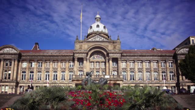 birmingham town hall, uk - facade stock videos & royalty-free footage