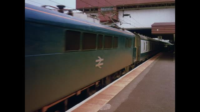 1981 - birmingham uk national exhibition centre, birmingham international railway station - british rail stock videos & royalty-free footage