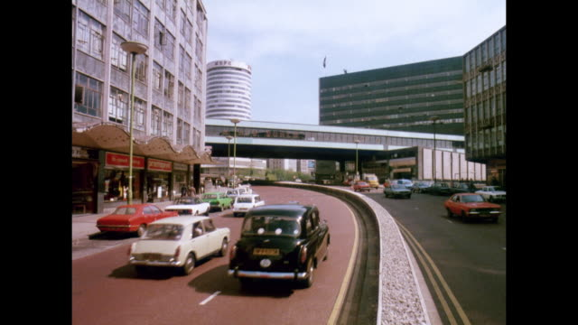1981 - birmingham uk roadways - motorway junction stock videos & royalty-free footage