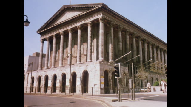 1981 - birmingham uk town hall, new construction - birmingham england stock videos & royalty-free footage