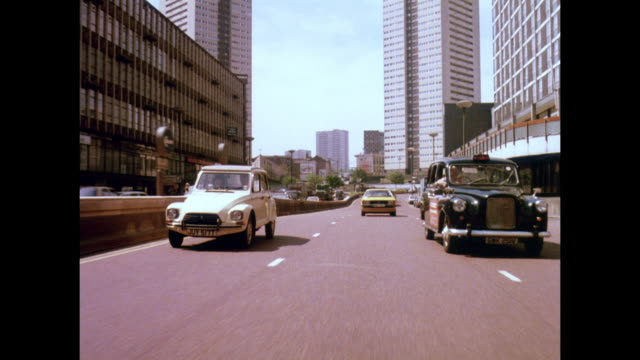 1981 - birmingham uk traffic and roadways - birmingham england stock videos & royalty-free footage