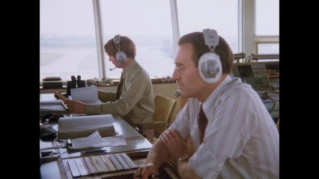 1981 - birmingham uk transportation - air traffic control stock videos & royalty-free footage