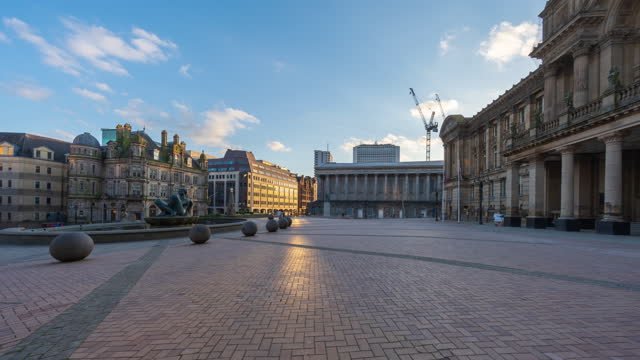 birmingham victoria square in birmingham city centre - 4k time-lapse - west midlands stock videos & royalty-free footage