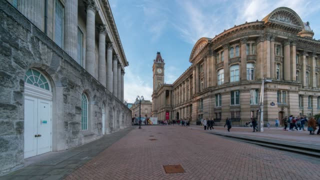 Birmingham Victoria square, Town Hall and Council House, time-lapse