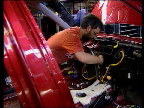 birmingham: workers working on production line at rover car plant at longbridge - longbridge stock videos & royalty-free footage