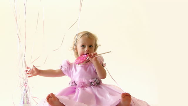 birthday baby - lollipop stock videos and b-roll footage
