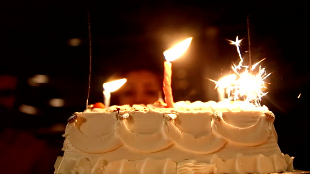 birthday cake and young couple - birthday cake stock videos & royalty-free footage