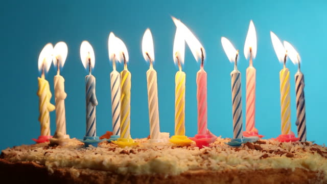 birthday cake - candlelight stock videos and b-roll footage