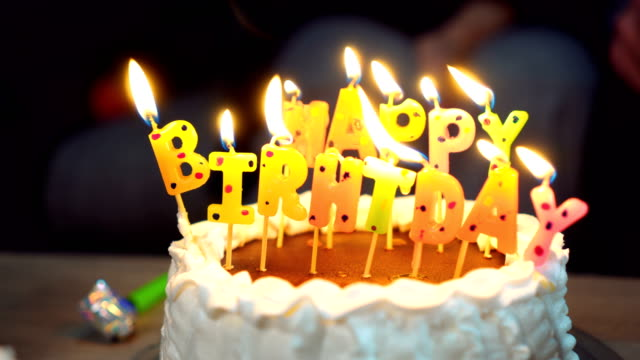birthday cake - birthday cake stock videos & royalty-free footage