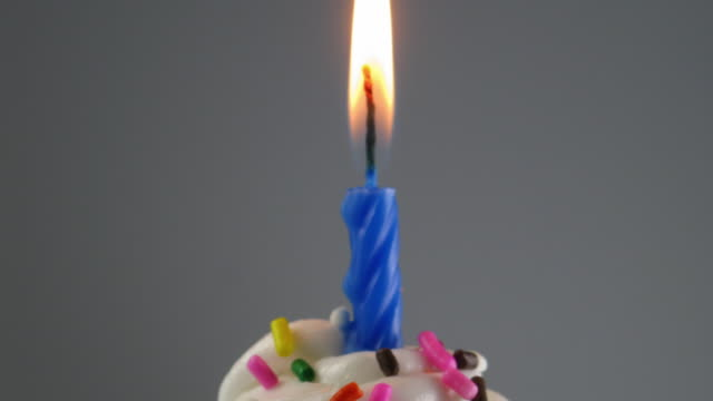 t/l cu td birthday candle melting on top of muffin - cupcake stock videos & royalty-free footage