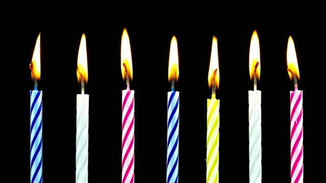 birthday candles burning - time lapse - candle stock videos & royalty-free footage