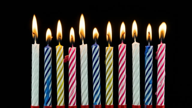 birthday candles time lapse - birthday stock videos and b-roll footage