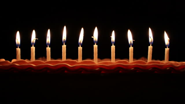 birthday candles - candlelight stock videos and b-roll footage