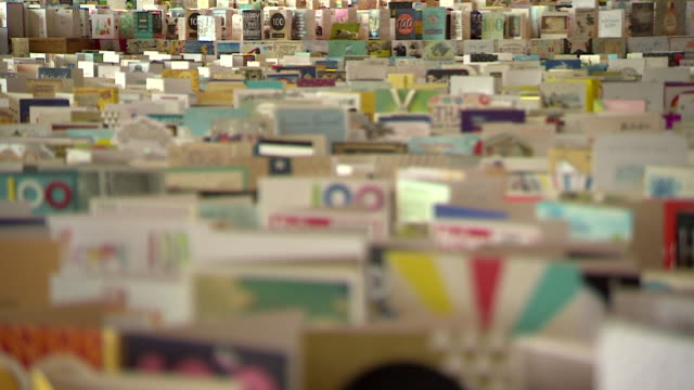 birthday cards to fundraiser captain tom moore, on display in bedford school, over 100,000 cards from around the world were sent for his 100th... - birthday stock videos & royalty-free footage