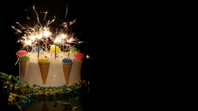 birthday celebration cake - birthday stock videos & royalty-free footage