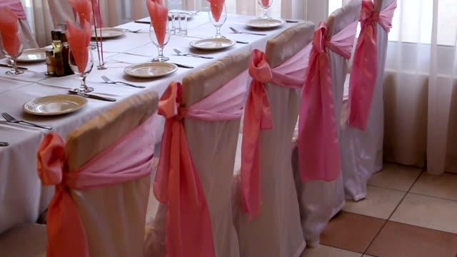 birthday reception decoration - ballroom stock videos & royalty-free footage