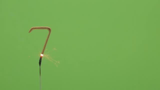 birthday sparkler - number 7 stock videos & royalty-free footage