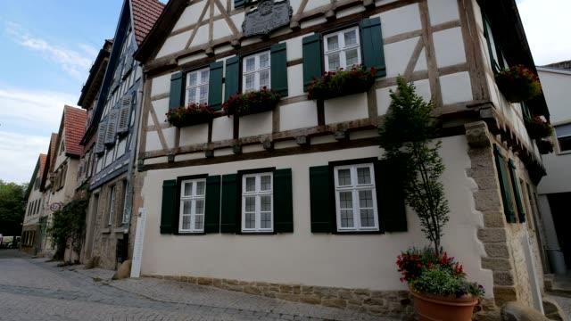 birthplace of friedrich schiller, marbach am neckar, neckar valley, baden-wuerttemberg, germany - facade stock videos & royalty-free footage