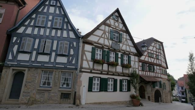 stockvideo's en b-roll-footage met birthplace of friedrich schiller, marbach am neckar, neckar valley, baden-wuerttemberg, germany - geboren in