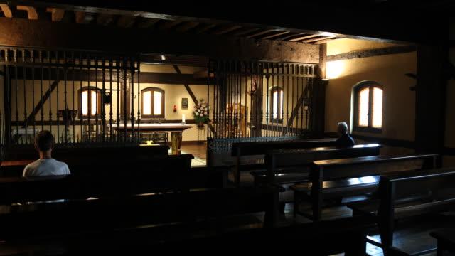 birthplace of ignatius of loyola / museum - 礼拝堂点の映像素材/bロール