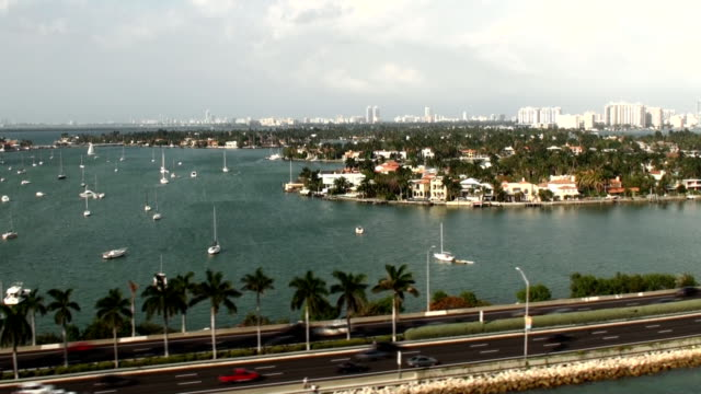 biscayne bay - miami, florida - biscayne bay stock videos and b-roll footage