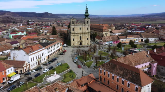 biserica reformata at dumbraveni - transylvania stock videos & royalty-free footage