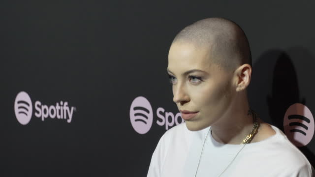 bishop briggs at the spotify's best new artist 2019 party at hammer museum on february 7, 2019 in los angeles, california. - spotify stock videos & royalty-free footage