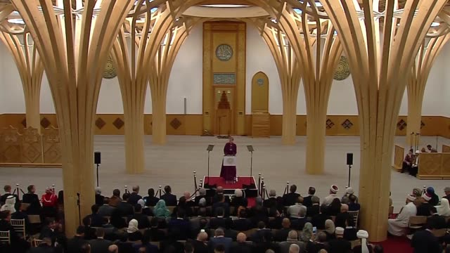 bishop of huntingdon dagmar winter delivers a speech during the official opening ceremony of cambridge central mosque in london united kingdom on... - london central mosque stock videos & royalty-free footage