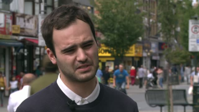 bishop of st albans calls for government to tighten laws on gambling machines london ext matt zarbcousin interview sot - tighten stock videos and b-roll footage