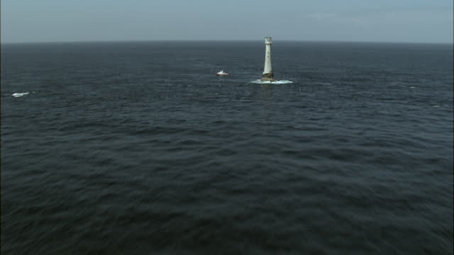 bishop rock lighthouse - isles of scilly stock videos & royalty-free footage