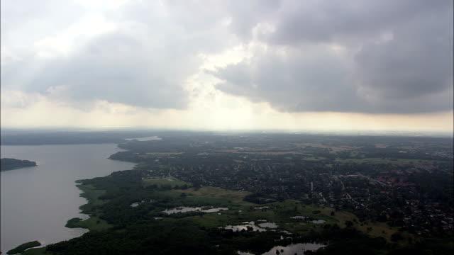 bistrup - aerial view - capital region, rudersdal kommune, denmark - capital region stock videos & royalty-free footage
