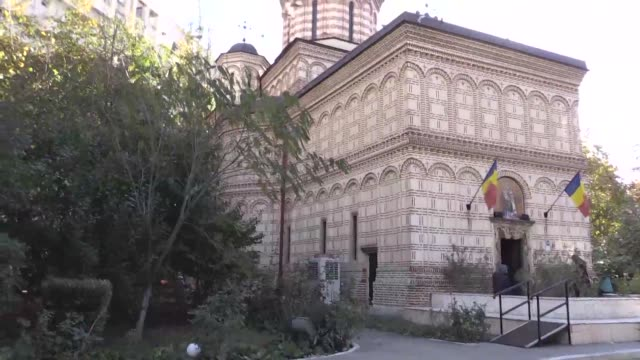 bit bruised but still standing old orthodox churches can be found around bucharest having escaped the frenzied demolition of the romanian capital in... - romania stock videos & royalty-free footage