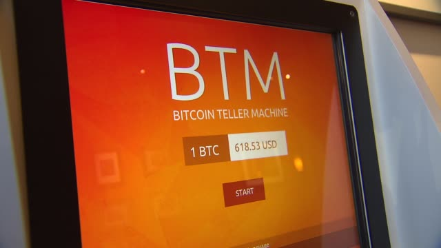 bitcoin atm at cassava restaurant on n clark st in chicago illinois on july 28 2014 - bitcoin stock videos & royalty-free footage