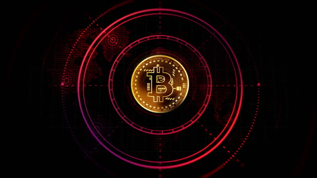 4k bitcoin background animation loop - bitcoin stock videos & royalty-free footage