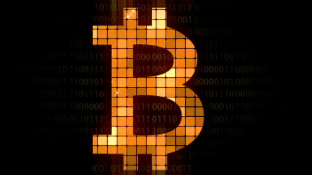 bitcoin background animation loop - bitcoin stock videos & royalty-free footage