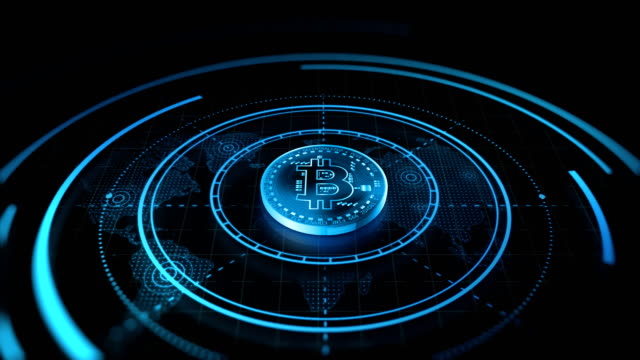 4k bitcoin background animation loopable - electronic book stock videos & royalty-free footage