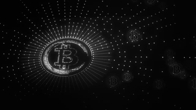 黒と白のビットコイン - ピア・ツー・ピア点の映像素材/bロール