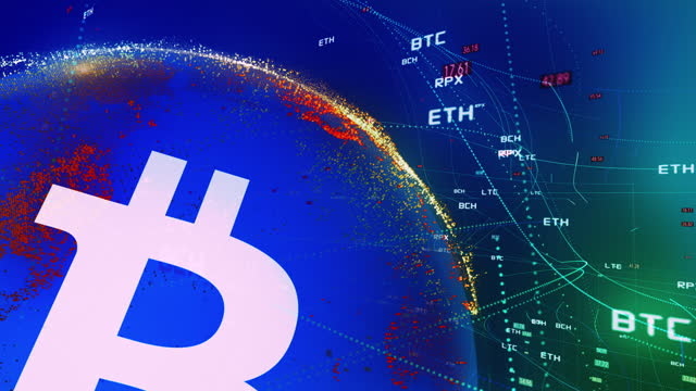 bitcoin cryptocurrency global - chart stock videos & royalty-free footage