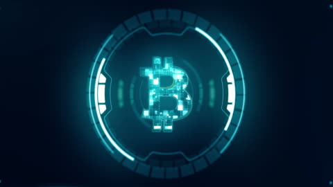 bitcoin cryptocurrency in digital cyberspace - blockchain stock videos & royalty-free footage