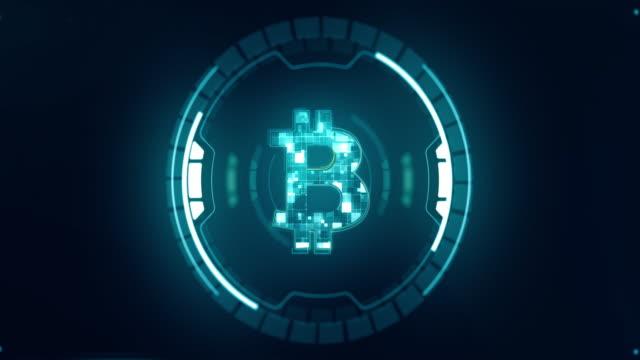 デジタルサイバースペースにおけるビットコイン暗号通貨 - イーサリアム点の映像素材/bロール
