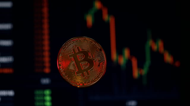 bitcoin cryptocurrency is booming - bitcoin stock videos and b-roll footage