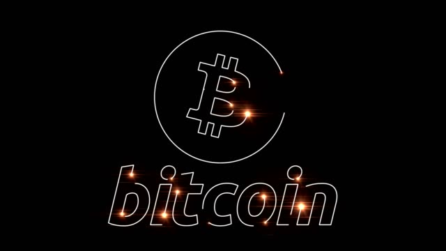 bitcoin レーザ溶接 - ロゴマーク点の映像素材/bロール