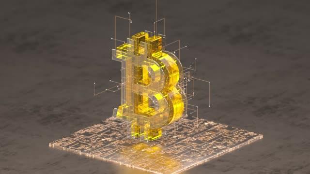 bitcoin sign - konsum stock-videos und b-roll-filmmaterial