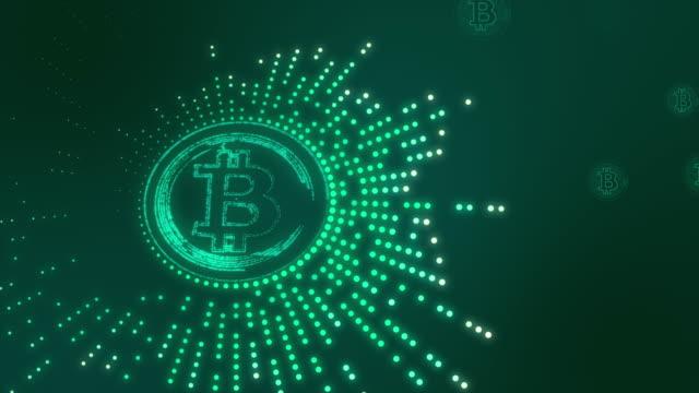 vidéos et rushes de bitcoin turquoise - image contrastée