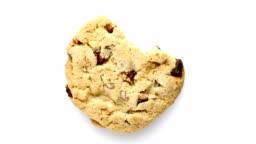 Bitten chocolate chip cookie