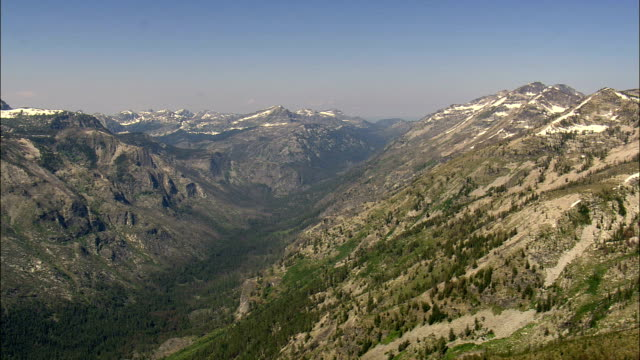 Bitterroot Mountains Past Lake Como  - Aerial View - Montana,  Ravalli County,  helicopter filming,  aerial video,  cineflex,  establishing shot,  United States