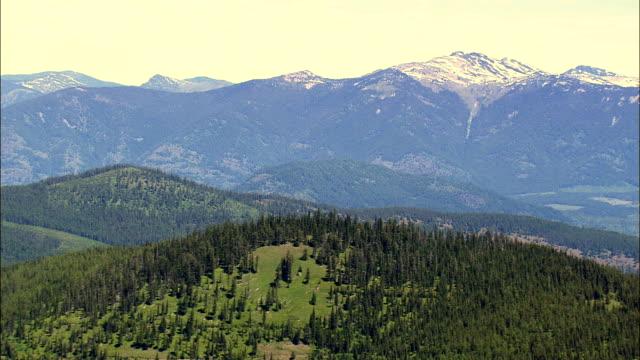 Bitterroot intervalo-Vista aérea-Montana, Sanders County, Estados Unidos